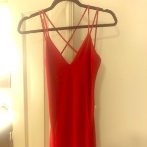 RED STRAPPY CLUB DRESS